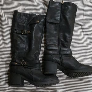 Mia knee high boots with straps. Hardly worn.